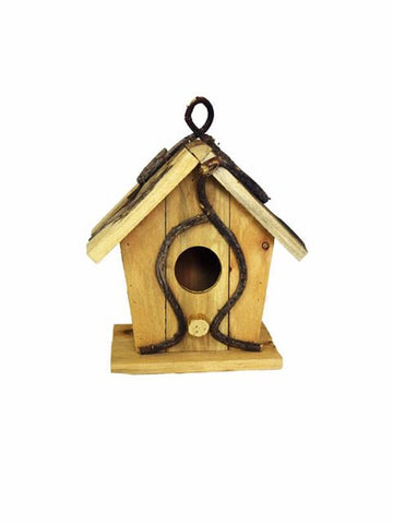 Madsbag Natural Pet Nest Wooden Bird House For Sparrow & Small Birds