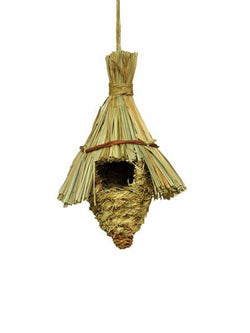 Madsbag Pet Nest Natural Straw Bird House For Sparrow & Small Birds