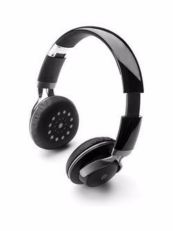Madsbag Over The Ear Folding Travel Headset Headphone Wireless Bluetooth 4.0 Foldable (Black)