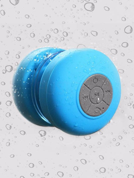 Madsbag Portable Wireless Bluetooth Shower Speaker Splash Proof Water Resistant (Aqua Blue) |