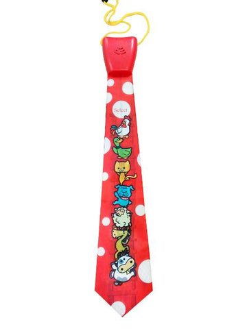 Madsbag Musical Toy Neck Tie | Necktie For Kids & Adults (Cute Animals)