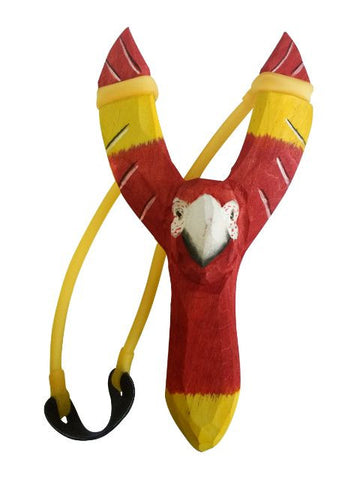 Madsbag Wooden Slingshot Gulel Parrot (3.5 x 2.2 x 8 inches)