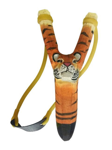Madsbag Wooden Gulel Slingshot Tiger (3.5 x 2.2 x 8 inches)