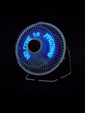 "Madsbag Customized 6"" LED Message Table Fan With Special Effects"