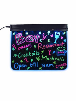 Madsbag Multipurpose Erasable Neon LED Message Flashing Illuminated Writing Board |