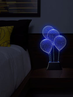 Madsbag Color Changing 3D Illuminated LED Table Bed Night Lamp | Kids Home Decor (Balloon)