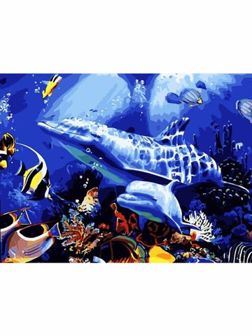 Madsbag DIY Oil Painting Kit For Kids - Dolphin (30*40*3 cm)