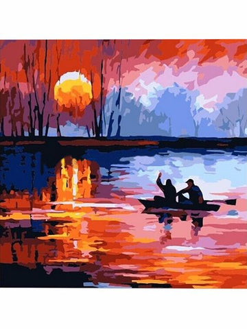 Madsbag DIY Oil Painting Kit For Kids - Sunset (40*40*3 cm)