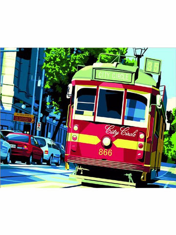 Madsbag DIY Oil Painting Kit For Kids - Tram (40*50*3 cm)