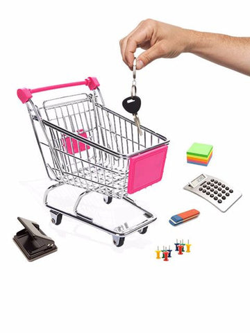 Madsbag  Shopping Trolley Shaped Card Stationery Holder - Large