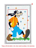 Madsbag Do-It-Yourself Canvas Wall Painting | Diamond Painting Kit | Goofy (Size 30 X 20 Cms )