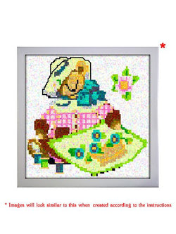 Madsbag Paint By Numbers Do-It-Yourself Diamond Painting Kit - Teddy (Canvas size 30*30 cms )