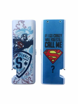 Madsbag USB Rechargeable Flameless Electronic Cigarette Lighter With Bottle Opener - Superman (Blue)