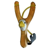 Madsbag Wooden Slingshot Gulel Eagle (3.5 x 2.2 x 8 inches)