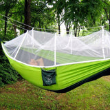 High Strength Parachute Fabric Hammock with Mosquito Net