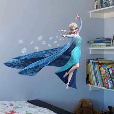 Wall Art for Children's Bedroom QUEEN ELSA Decal