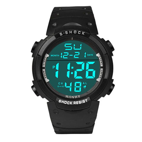 Stylish Waterproof Men's Watch | LCD Digital Stopwatch | Date Rubber Sport Wrist Watch |  4 Colours available