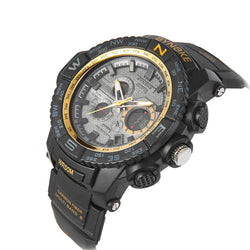 Waterproof High Quality Multi Function Glow Digital LED Quartz Sports Watch Waterproof | Golden Dial