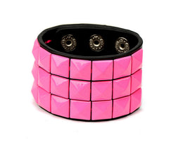 Trendy Stylish Fashionable Unisex PU Leather Multi-colour Bracelet | Square Designs