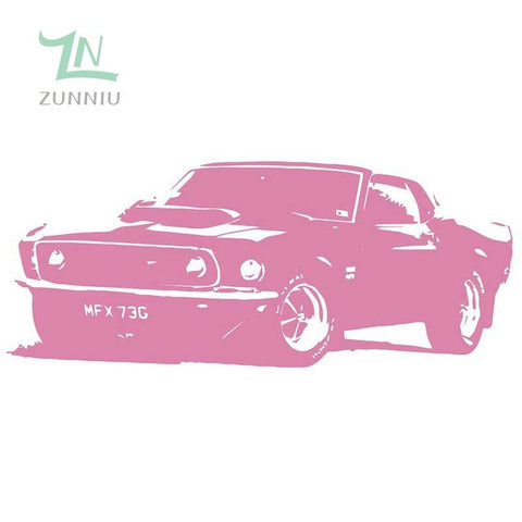 ZN  W211 XL Large Car Ford Mustang 1969 Muscle Free Squeegee! Wall Art Decal / Sticker home decor