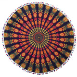 Round Traditional Coffee Tablecloth with Colour Options