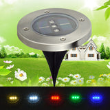 Solar Powered Underground Light for Outdoor Garden | 3Led Waterproof Buried Light for Landscape Lighting Decoration