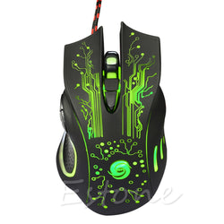 Professional 5500DPI - 6 Buttons USB Optical Wired Gaming Mouse