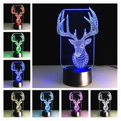 Madsbag Color Changing 3D Illuminated LED Table Bed Night Lamp