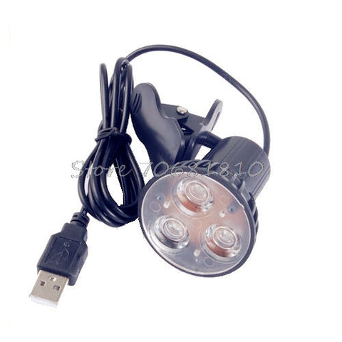 Multipurpose Clip On Super Bright 3 LED USB Spot Light Lamp