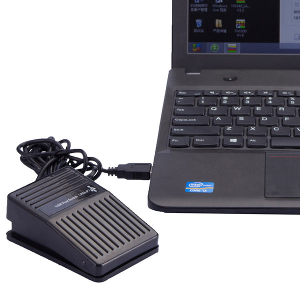 USB Single Foot Switch Pedal Control Keyboard Mouse for PC Games