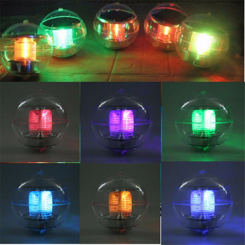 Floating Solar Powered Night Light For Garden Pond Fountain Landscape | Set of 2 pcs