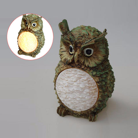 Owl Style Solar Power LED Villa Garden Lamp Yard Lawn Light