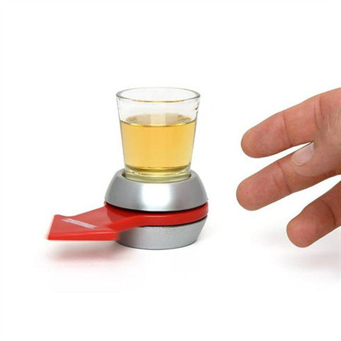 Spin The Shot Glass Drinking Game With Spinning Wheel