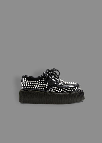 0eab81a5f04aa Underground Original Wulfrun Creeper - Black Leather   All Over Studs -  Double Sole