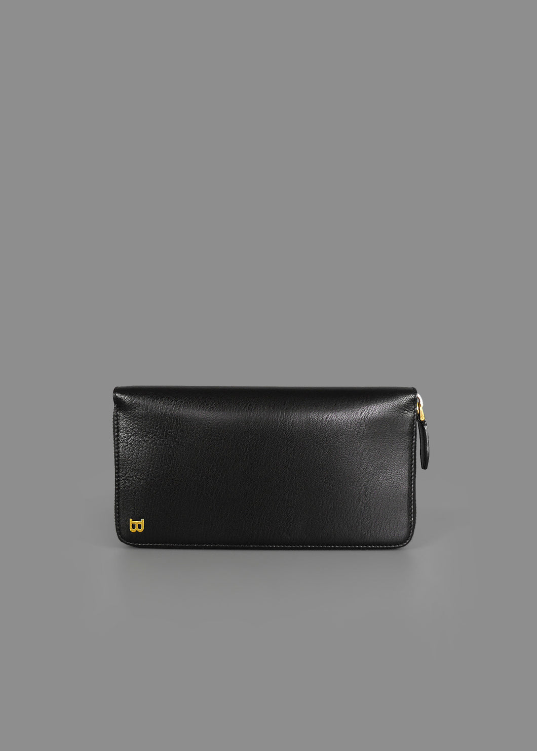 ca659690255f Bally HYNE.CNY Smooth Black Goat Leather Long Wallet (Special Edition)
