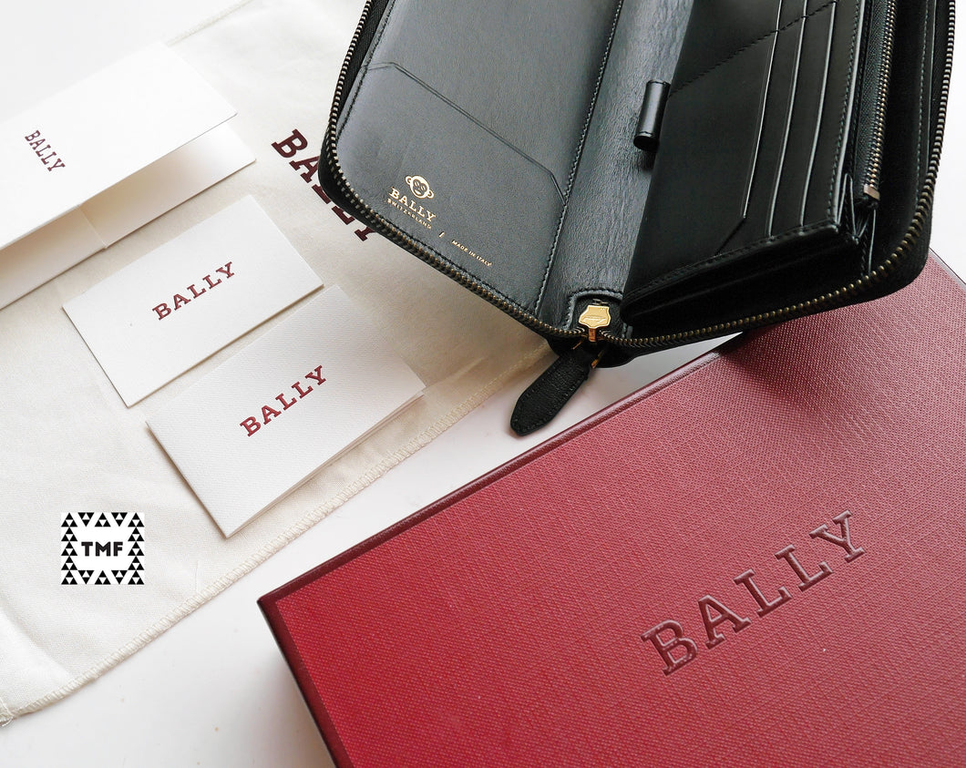1a912435458a CNY Smooth Black Goat Leather Long Wallet (Special Edition); Bally ...