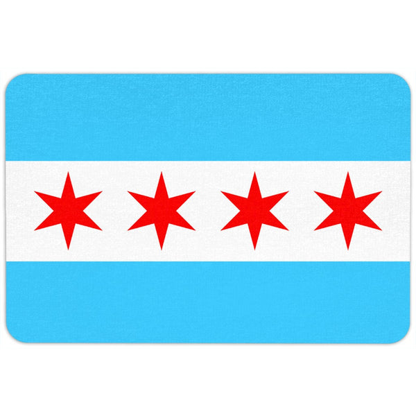 Chicago Flag Floor Mat
