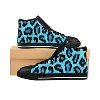 Blue Leopard Women's Hightop Sneakers