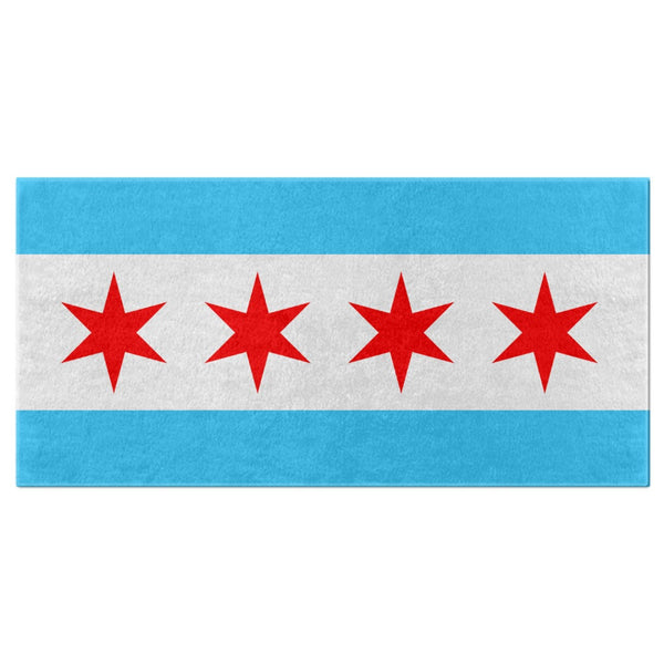 Chicago Flag Bath Towel