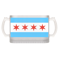 Chicago Flag Frosted Mug