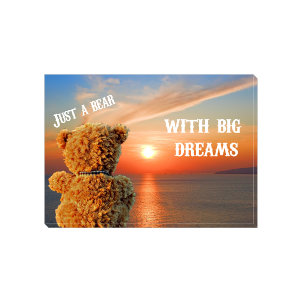 Just a Bear with Big Dreams Canvas Wrap