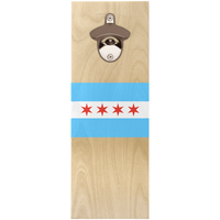 Chicago Flag Wooden Bottle Openers