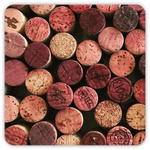 Wine Cork Premium Reusable Coasters, Set of 4