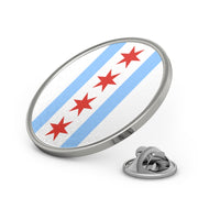 Chicago Flag Metal Pin