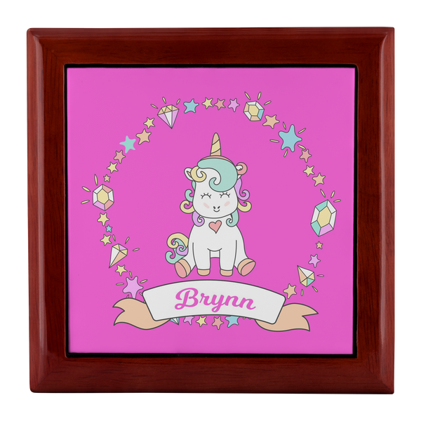 Personalized Unicorn Jewelry Box
