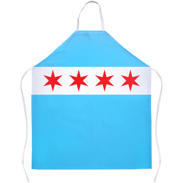 Chicago Flag Apron