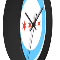 Chicago Flag Wall Clock