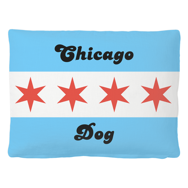 Chicago Flag Dog Bed