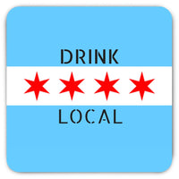 Chicago Flag Drink Local Magnet