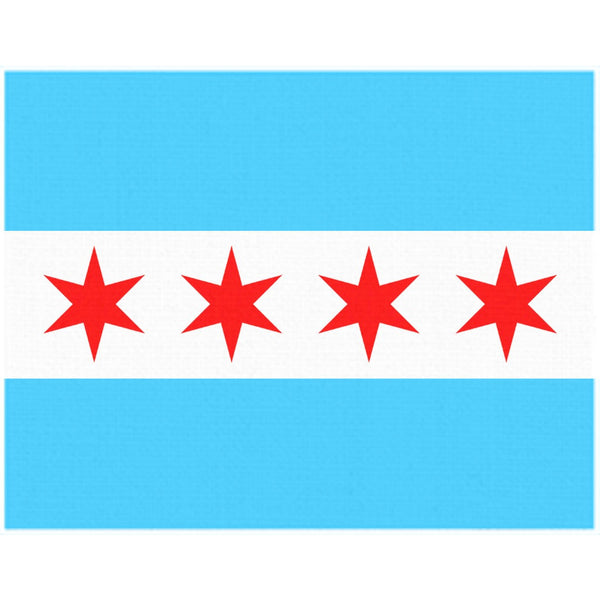 Chicago Flag Tablecloth